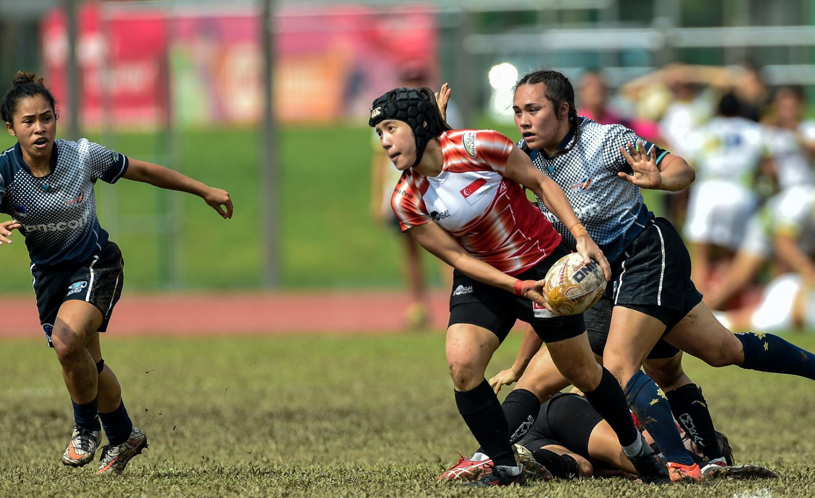 Women's Captain Alvinia Ow Yong in action at the South East Asian 7s in April this year