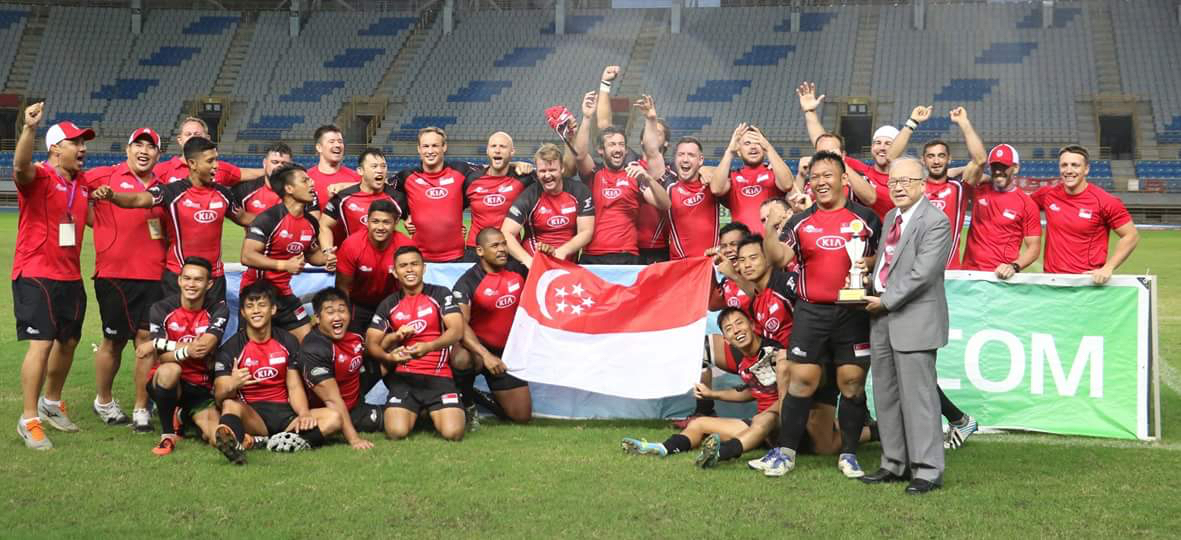 Singapore Men's 15s Promoted to Division 1 After Beating Thailand 38-13 In The Asia Rugby Championship Division 2 Finals